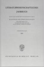 Literaturwissenschaftliches Jahrbuch Band 50