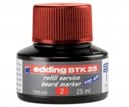 , Viltstiftinkt edding BTK25 voor whiteboard rood