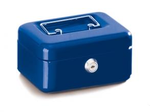 , geldkistje Alco 152x118x76mm staal blauw