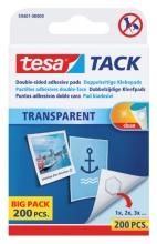 , Dubbelzijdige kleefpads Tesa tack transparant 200stuks
