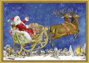 , Nostalgischer Weihnachtsschlitten. Adventskalender