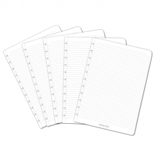 , Uitbreidingsset Correctbook A4 met 5 gelinieerde bladen