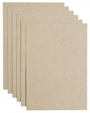 , Kopieerpapier Papicolor A4 200gr 6vel kraft grijs