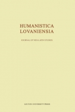 , Humanistica Lovaniensia Volume LXV - 2016