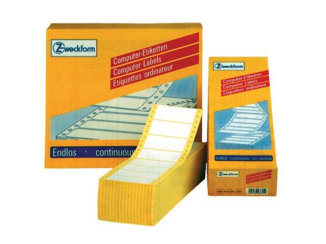 ,comp.etiket Zweckform 1-baans 88,9x35,7mm 4000 etiketten