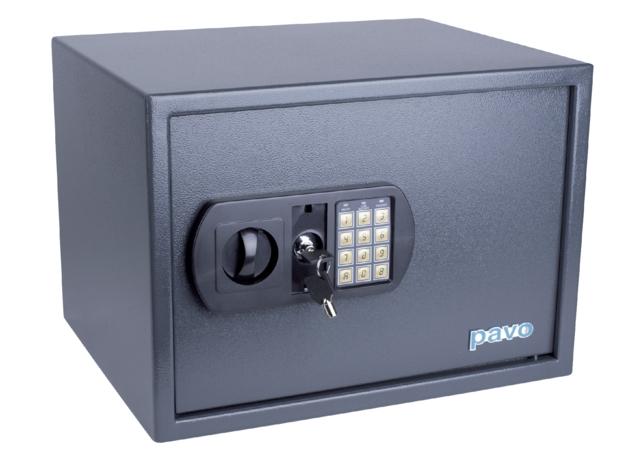 ,Kluis Pavo 450x360x315mm elektronisch donkergrijs
