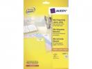 ,laseretiket Avery 46x11,1mm wit 25 vel 84 etiketten per vel