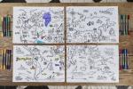 ,Placemat met wereldkaart set 4 stuks