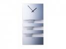 ,Wandklok NeXtime 19 x 38 cm, glas, spiegel, `Bold Stripes`