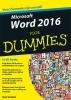 <b>Dan  Gookin</b>,Microsoft Word 2016 voor Dummies