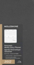 Moleskine 2017 Panoramic Planner, 12m, Slim, Black