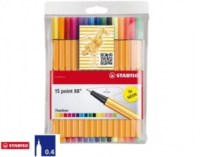 , Fineliner STABILO point 88 etui à 15 kleuren