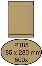 , Envelop Quantore akte P185 185x280mm bruinkraft 500 stuks