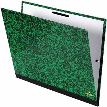 ,Tekenmap Canson studio 32x45cm 2 elastieken groen