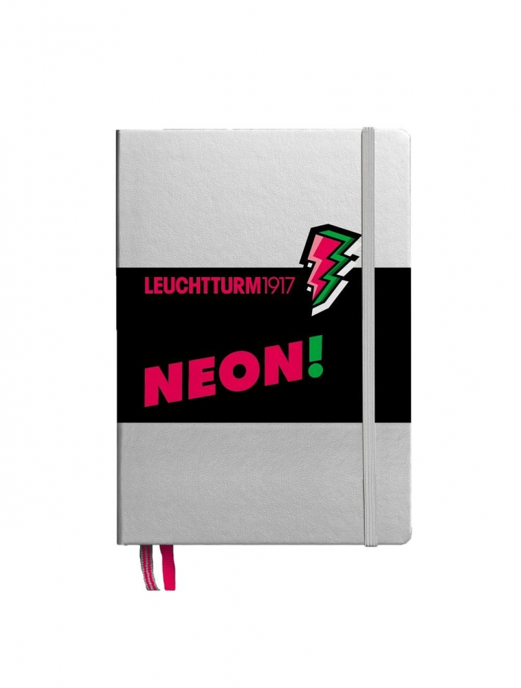 Lt361392,Leuchtturm notitieboek puntjes neon roze