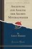 Bunsen, Robert, Anleitung zur Analyse der Aschen Mineralwasser (Classic Reprint)