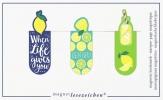 Mos-31145 , Magnetische boekenlegger set 3 stuks citroenen