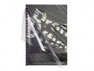 , schutbladen ProfiOffice A4 gestreept 400 micron 50 stuks    transparant blauw