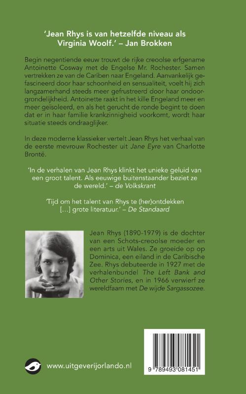 Jean Rhys,De wijde Sargassozee