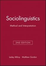 Lesley Milroy,   Matthew Gordon Sociolinguistics