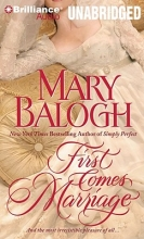 Balogh, Mary First Comes Marriage