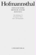 Hofmannsthal, Hugo von Operndichtungen 3.2. Die ägyptische Helena Opern- und Singspielpläne