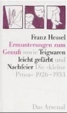 Hessel, Franz Ermunterungen zum Genuß