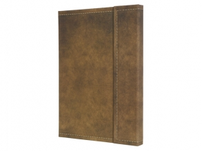 notitieboek Conceptum 194blz hard Vintage Brown 155x203mm   geruit