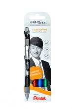 , Gelschrijver Pentel Energel BL77 0.4mm blister à 4 stuks assorti