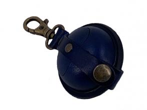 , sleutelhanger Mika Mini zadelleer opbergvak voor munten.    blauw