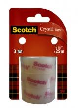 , Plakband Scotch Crystal Clear 19mmx25m