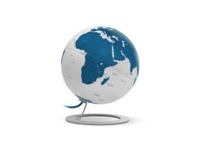 , globe iGlobe licht blauw 25cm diameter metaal/chroom
