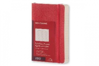 MOLESKINE 2017 MOLESKINE SCARLET RED POCKET DAILY