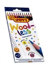 , Kleurpotlood Jovi triangle houtvrij set à 12 kleuren ass