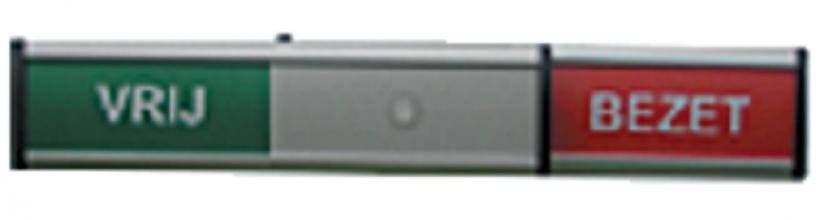 , Infobord vrij/bezet 125x30mm