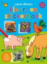 , Lieve dieren kleur- en stickerboek (3-5 j.)