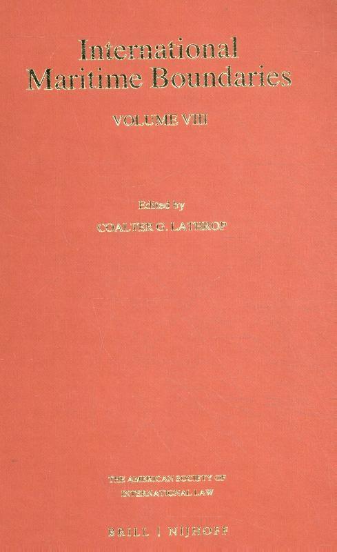 ,International Maritime Boundaries Volume VIII