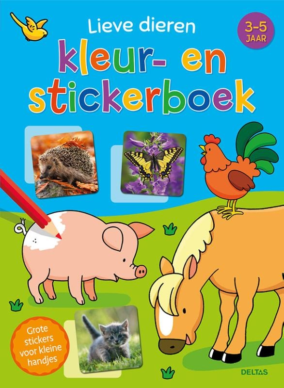,Lieve dieren kleur- en stickerboek (3-5 j.)