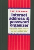 ,The Personal Internet Address & Password Logbook