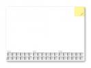 ,bureauonderleggers Sigel 59,4x41cm 30 vel Memo wit