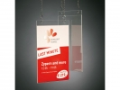 ,postertas Sigel wandmodel A4 transparant acryl
