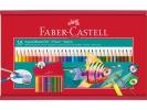 ,aquarelpotlood Faber-Castell 35 stuks in houten kist met    penseel en slijper
