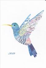 Watercolor Hummingbird 2019 Weekly Planner