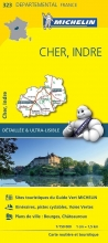 , Michelin 323 cher, indre 1:150.000