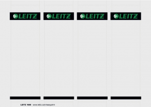 , Rug-insteekkaart Leitz breed 56x190mm wit