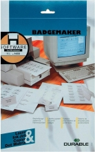 , Badgekaart Durable 1455 bedrukbaar 54x90mm 200stuks