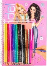 , Topmodel kleurboek met kleurpotloden