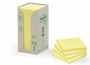 , Memoblok 3M Post-it 654 76x76mm recycled pastel geel
