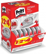 , Correctieroller Pritt compact flex 4.2mmx 10m doos à 12+4 gratis