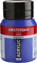 , Talens amsterdam acrylverf pot 500 ml. ultramarijn 504